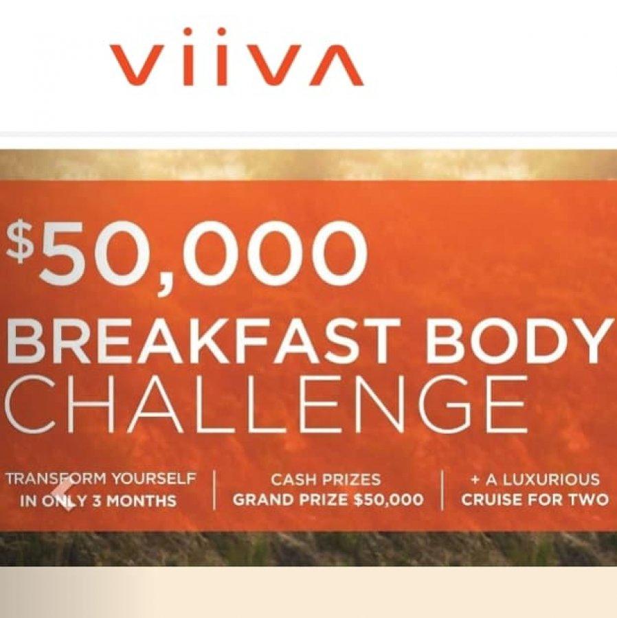 $50,000 Breakfast Body Challenge offer Weight Loss
